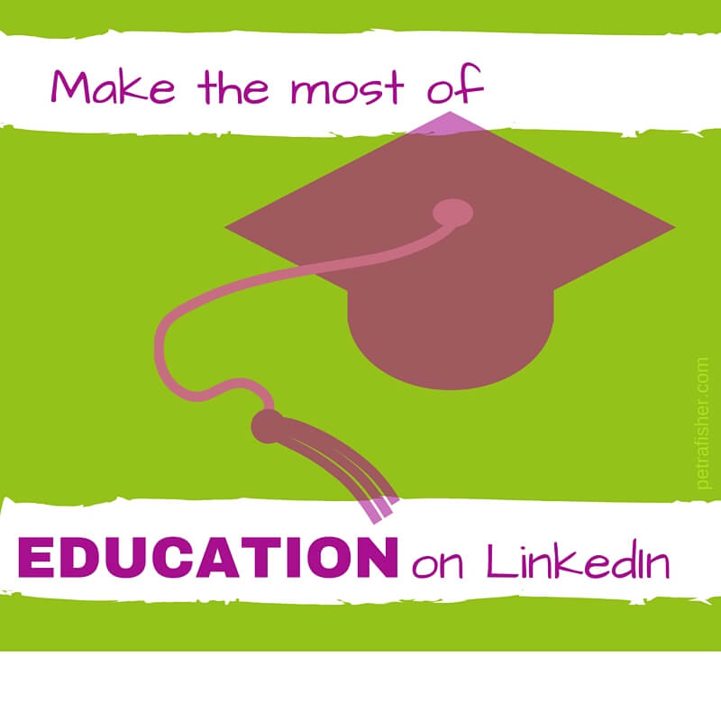 how to add education on linkedin