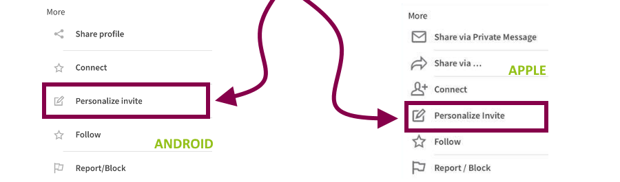 customize-linkedin-invitation-mobile- petra-fisher-linkedin-trainer-consultant-expert