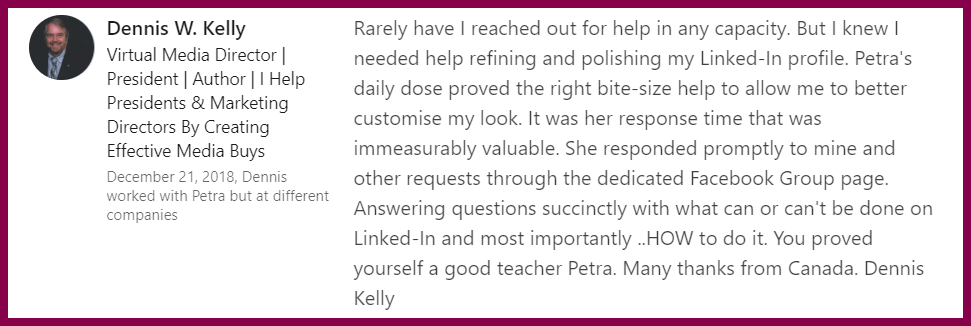daily-linkedin-dose-review-petra-fisher-linkedin-trainer-consultant-expert-001-kelly